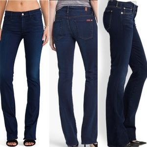 7 for all Mankind | Dark Wash Skinny Boot Cut Jean